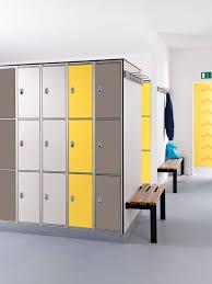 locker room bench contemporary wooden steel venesta