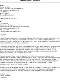 Adjunct Faculty Resume Good Sample Cover Letter For Adjunct Faculty Position 87 With