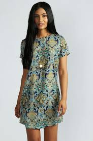 boohoo clothing paisley print sleeve shift dress boohoo