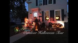 Outdoor Halloween Decor by Outdoor Halloween Decor Tour 2016 Youtube