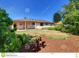 Rambler House by Rambler Exterior Old Simple American House Stock Photo Image