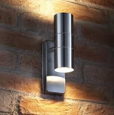 up down bronze cylinder outdoor wall light kitchen auraglow dusk till dawn sensor stainless steel down