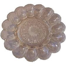 devilled egg platter brockway glass american concord deviled egg plate from