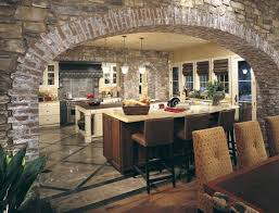 tuscan kitchen decor in stone style italian kitchen designs