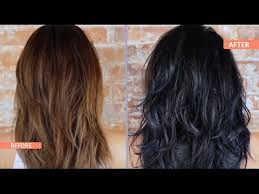 what to dye your hair when its black how to black blue ombre dip dye your hair youtube