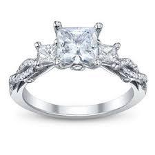 princess cut wedding set infinity princess cut engagement rings
