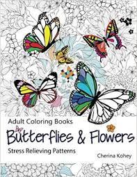 amazon coloring book butterflies flowers stress