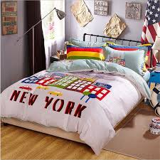 New York Bed Set New York Bedding Set 100 Cotton Duvet Cover Set Bed Linen