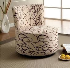 Ivory Accent Chair Shore Ivory Fabric Stroke Pattern Flared Fan Back Accent Chair