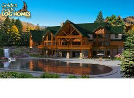 mansion plans golden eagle log and timber homes floor plan details log mansion
