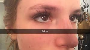 bella thorne got her eyebrows tattooed on snapchat and it was