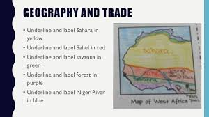 Map Of West Africa Early Societies Of West Africa Learning Goal I Will We Will