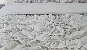 bedding set chic bedding amazing ruffled white bedding best