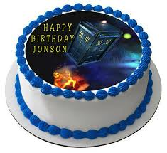 dr who cake topper dr who tardis edible birthday cake or cupcake topper edible