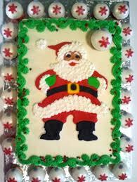colorflow santa cake topper with ornament mini
