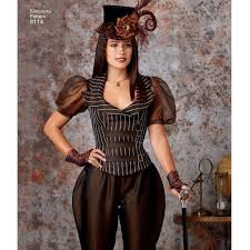 Simplicity Halloween Costumes Sewing Pattern Victorian Steampunk Costumes Misses