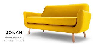 made com canapé jonah design de harrison un canapé 2 places en jaune
