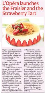 fraiser en cuisine l opera launches the fraiser and the strawberry tart zoom delhi