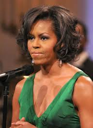 hairstyles for black women over 40 obama short curly bob 2017