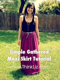 pattern for simple long skirt simple gathered maxi skirt tutorial thinkliz