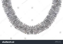 curly silver garland stock photo 2300866