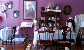 dining room purple paint ideas table and chairs chic interior wall