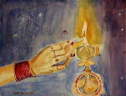 happy diwali watercolor by geeta biswas diwali is a hindu