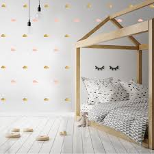 gold and pink cloud wall stickers for baby child bedroom or nursery gold and pink cloud wall stickers for bedroom nursery child s baby s room playroom easy peal