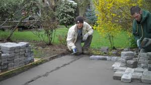 How To Build A Stone Patio by Installation Of A Paver Patio Youtube