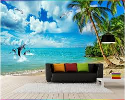 online get cheap sea life wall murals aliexpress com alibaba group beibehang custom mural wallpaper 3d sea scenery beach coconut wall murals life bedroom tv background landscape