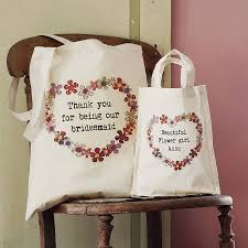 bridesmaids bags personalised wedding party tote bag by snapdragon