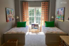 gina sims designs the big boy elements are expressed in the wall decor graphic window panels and the reading nook providing them with a stylish retreat from their