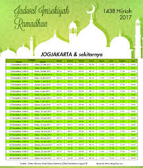 Jadwal Sholat Jogja Jadwal Imsakiyah 1438 H Dan Waktu Buka Puasa 2017 Wilayah Jakarta
