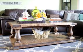Wood Coffee Table Plans Free by Ana White Balustrade Coffee Table Diy Projects