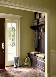 beauteous green house foyer paint colors ideas apropos brown bench