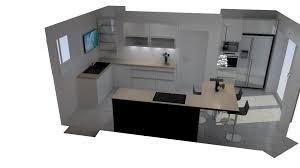 projet cuisine 3d projet en 3d hb menuiseries