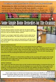 some simple home remedies for tile cleaning