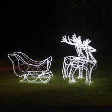 reindeer and sleigh outdoor rope light set 21 remarkable outdoor