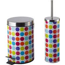 buy colourmatch bathroom bin and toilet brush set spots at argos