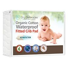 Baby Crib Mattress Pad Organic Cotton Waterproof Fitted Crib Pad