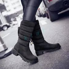 s boots plus size calf womens lace up suede low block heels boots mid calf shoes