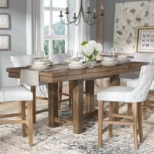 extendable dining room table farmhouse dining tables birch lane