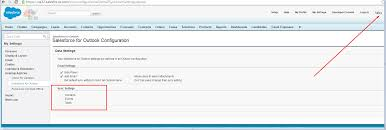 salesforce for outlook configuration contacts event task