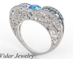 fancy wedding rings fancy blue diamond engagement ring vidar jewelry unique custom