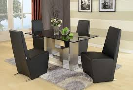 White Bedroom Furniture With Oak Tops Top 94 Exemplary Dining Room Rectangle Black Glass Table With Grey