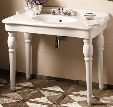 porcher sonnet sink console traditional bathroom vanities and