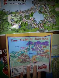 City Park New Orleans Map Jazzland Six Flags New Orleans Park Maps From 2000 2004