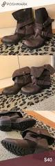brown moto boots brown moto booties moto boots sole and brown