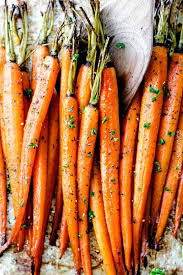 roasted carrots with honey and garlic and a secret ingredient