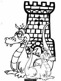 castle coloring pages printables dragons castle coloring